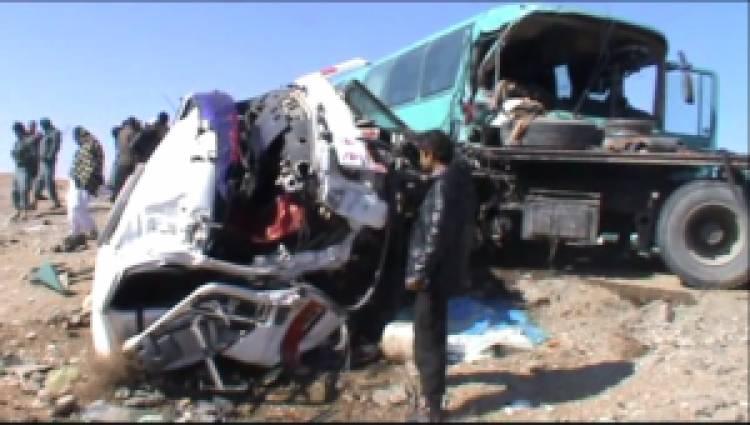 کشته و زخمی شدن چهل تن در پی حادثه ترافیکی در شاهراه کابل-کندهار